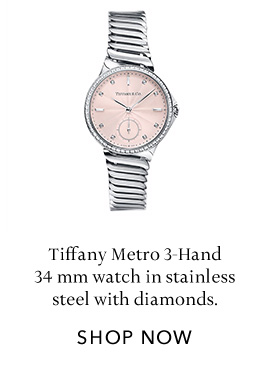 Stainless Steel with Diamonds Metro Watch